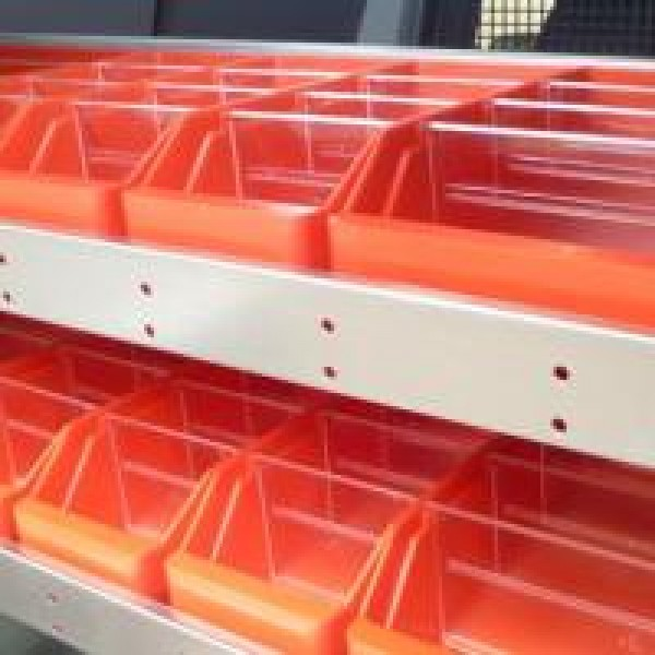 Set of 3x Red Bin Dividers (120mm)