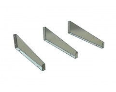 Low Front Metal Shelf Dividers 230mm Deep