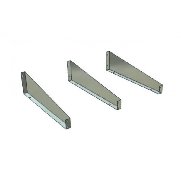 Low Front Metal Shelf Dividers 330mm Deep