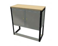Van Racking 2 Cabinet Bench Unit; 1000mm x 1000mm x 330mm
