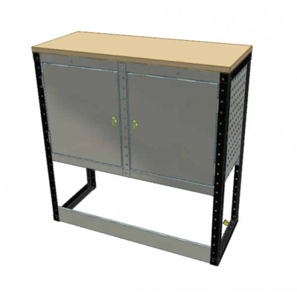 Van Racking 2 Cabinet Bench Unit; 1000mm x 1000mm x 430mm