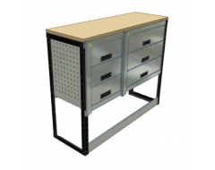 Van Racking 6 Drawer Bench Unit; 1000mm x 1250mm x 430mm