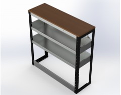 Van Racking 2 Shelf Bench Unit; 1000mm x 1000mm x 330mm