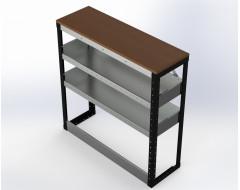 Van Racking 2 Shelf Bench Unit; 1000mm x 1000mm x 330mm