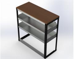 Van Racking 2 Shelf Bench Unit; 1000mm x 1000mm x 430mm