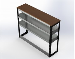 Van Racking 2 Shelf Bench Unit; 1000mm x 1250mm x 330mm