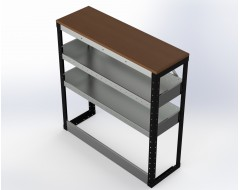 Van Racking 2 Shelf Bench Unit; 1000mm x 1250mm x 430mm