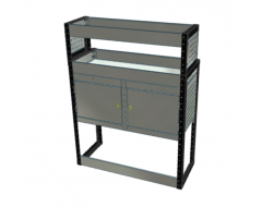 Van Racking 2 Cabinet, 2 Shelf; 1300mm x 1000mm x 330/230mm