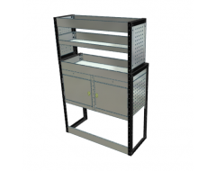Van Racking 2 Cabinet, 3 Shelves; 1500mm x 1000mm x 330/230mm