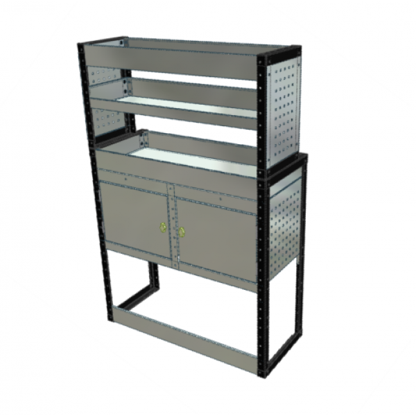 Van Racking 2 Cabinet, 3 Shelves; 1500mm x 1250mm x 330/230mm