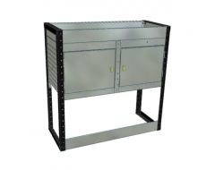 Van Racking 2 Cabinet, 1 Shelf Unit; 1000mm x 1000mm x 330mm
