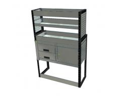 Van Racking 2 Drawers, 1 Cabinet, 3 Shelves; 1500mm x 1000mm x 330/230mm