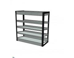 Van Racking 5 Shelf Case Unit; 1000mm x 1000mm x 430mm