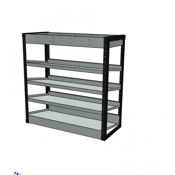 Van Racking 5 Shelf Case Unit; 1000mm x 1000mm x 430mm
