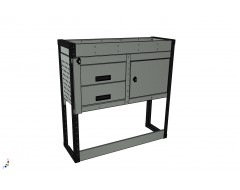 Van Racking 2 Drawer, 1 Cabinet and 1 Shelf; 1000mm x 1000mm x 330mm