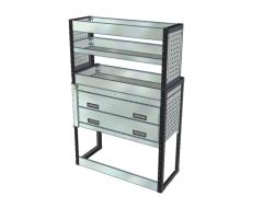 Van Racking 3 Drawers, 3 Shelves; 1500mm x 1000mm x 330/230mm