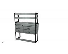 Van Racking 4 Drawers, 3 Shelves; 1500mm x 1250mm x 330/230mm