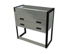 Van Racking 2 Drawer, 1 Shelf Unit; 1000mm x 1000mm x 330mm