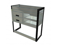 Van Racking 2 Drawer, 2 Shelf; 1000mm x 1000mm x 330mm