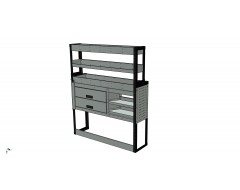 Van Racking 2 Drawer, 2 Sloping Shelves and 3 Standard Shelves; 1500mm x 1250mm x 330/230mm