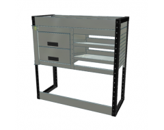 Van Racking 2 Drawer, 2 Sloping Shelf and 1 Standard Shelf; 1000mm x 1000mm x 330mm