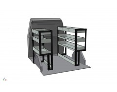 Ford Transit Connect SWB Van Shelving Kit