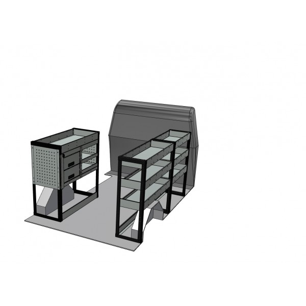 Renault Trafic SWB Van Shelving Kit with Drawer Unit