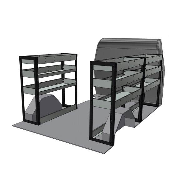 Citroen Dispatch Standard Low Roof Racking Kit