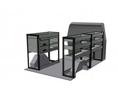 Peugeot Boxer Van SWB Shelving Kit with Drawer Unit