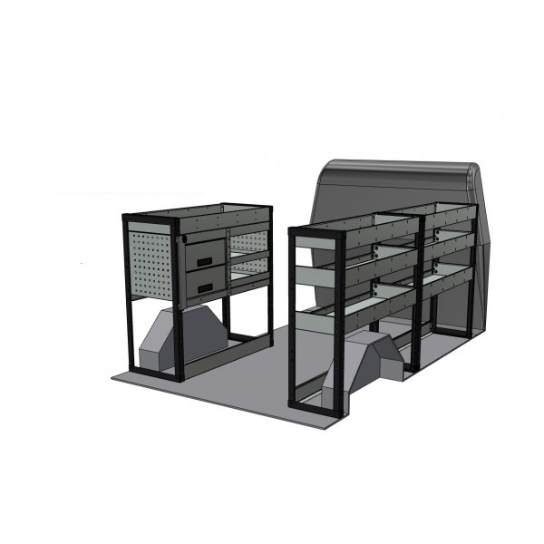 Ford Transit Custom SWB Van Racking Kit With Drawers