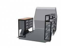 Peugeot Boxer MWB Van Racking Kit with Work Bench.