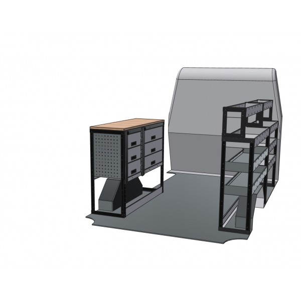 Iveco Daily Van Racking Kit With Bench Top SWB