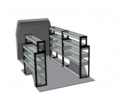 Peugeot Boxer LWB Van Racking Kit