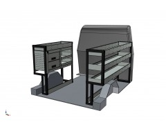Mercedes Citan 2012 Onwards EXLWB Vantage Systems Van Racking and Drawer Kit