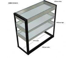 Van Racking 3 Shelf Unit 1000mm x 1000mm x 430mm