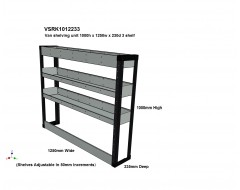 Van Racking 3 Shelf Unit 1000mm x 1250mm x 330mm