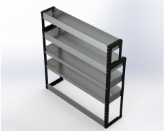 Van Racking 4 Shelf Unit 1300mm x 1250mm x 330mm