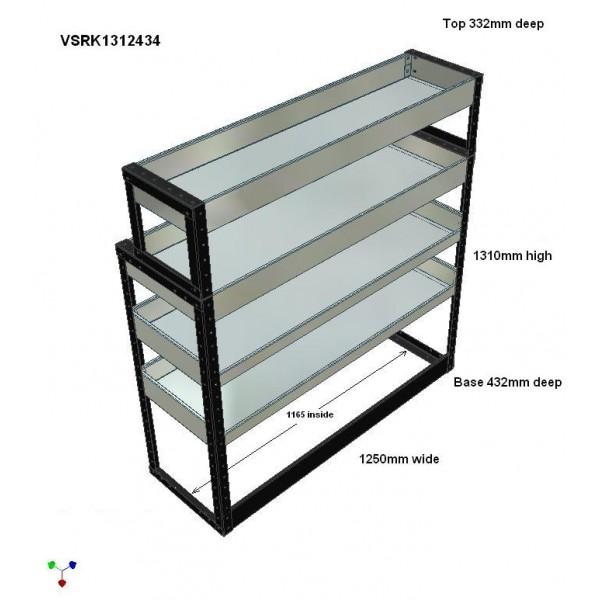 Van Racking 4 Shelf Unit 1300mm x 1250mm x 430mm