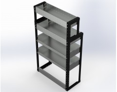 Van Racking 4 Shelf Unit 1300mm x 750mm x 330mm