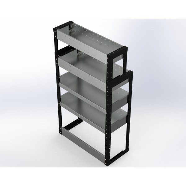 Van Racking 4 Shelf Unit 1300mm x 750mm x 430mm