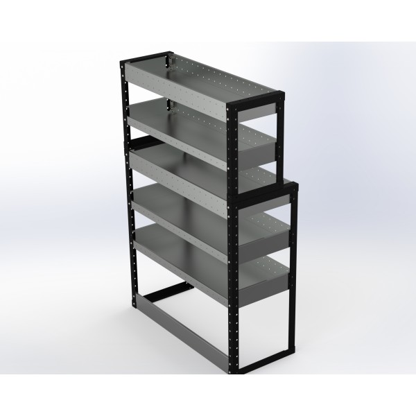 Van Racking 5 Shelf Unit 1500mm x 1000mm x 430mm