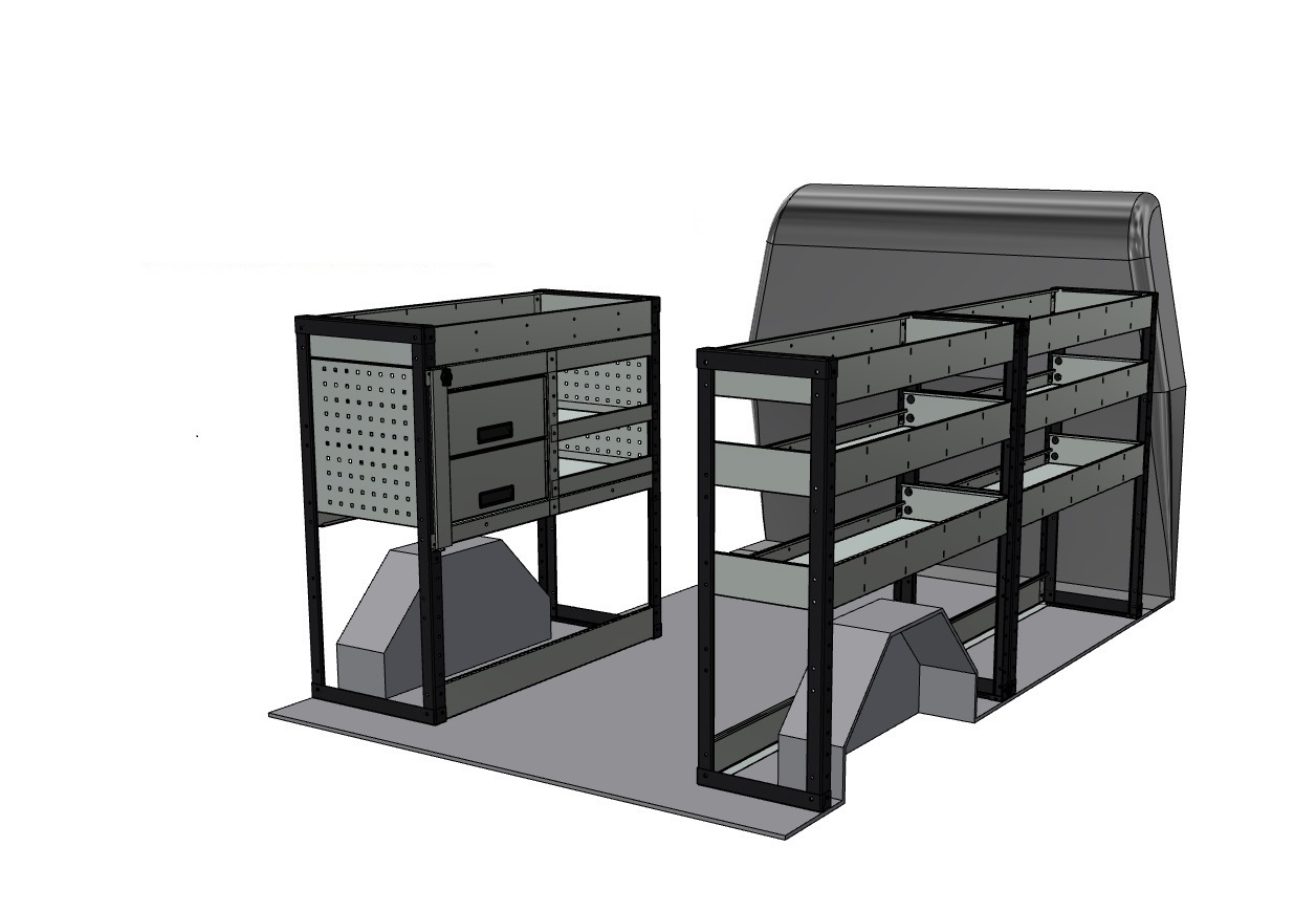 citroen relay 2013 present van racking kits. Black Bedroom Furniture Sets. Home Design Ideas